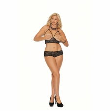 Plus Elegant Moments 55022X Cupless Bra Top & G-String