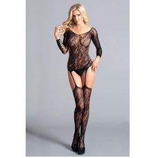 Plus Lace Up Detail Bodystocking