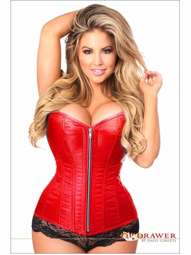 Daisy Corsets Plus Size TD-821 Red Brocade Steel Boned Corset