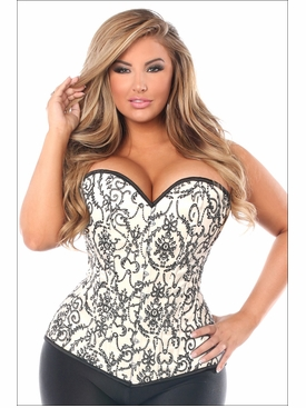 Daisy Corsets Plus Size TD-686 Ivory Embroidered Corset