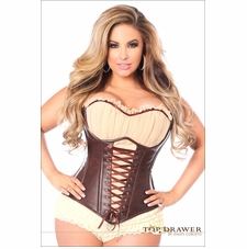 Plus Size Daisy Faux Leather Ren Faire Corset