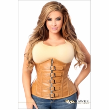 Plus Size Daisy Camel Faux Leather Underbust Corset
