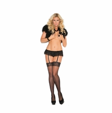 Plus Size Elegant Moments 1966X Lace Garter Belt
