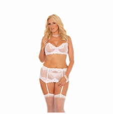 Plus Size Elegant Moments 5754X Mesh Bra W/G-String