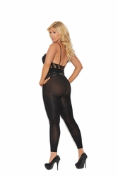 Plus Size Elegant Moments 82183Q Opaque Footless Bodystocking