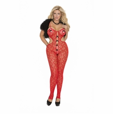 Plus Size Elegant Moments 8703Q Red Lace Bodystocking