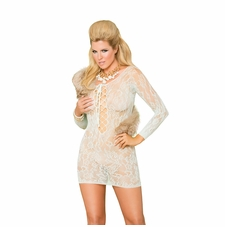 Plus Size Elegant Moments 88055Q Lace Mini Dress