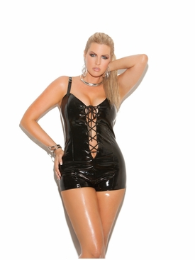 Plus Size Elegant Moments V7108X Vinyl Romper