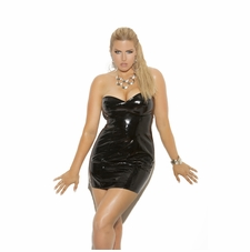 Plus Size Elegant Moments V8427X Strapless Vinyl Spanking Dress