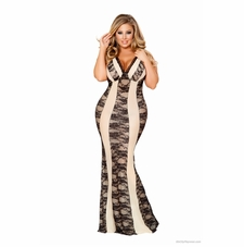 Plus Size Gowns-Chemise-Robes