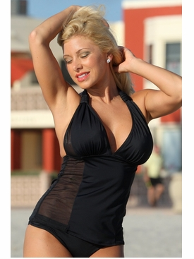 Plus Size Ujena La Risque Sexy Tankini Bathing Suit to 3X