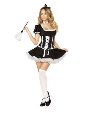 Roma 4pc Mischievous Maid Roleplay Costume