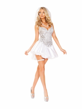 Roma 4pc The Newlywed Bride Roleplay Costume