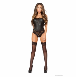Roma Li176 Lace Up Front Teddy