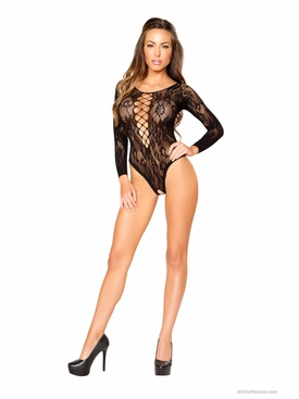 Roma Li202 Long Sleeve Lace Teddy