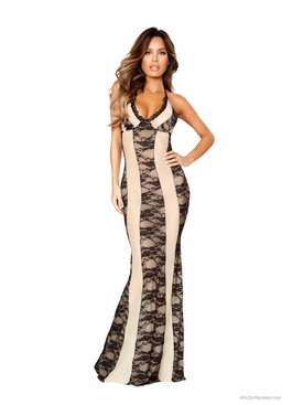 Roma Li204 Two-Tone Lingerie Gown