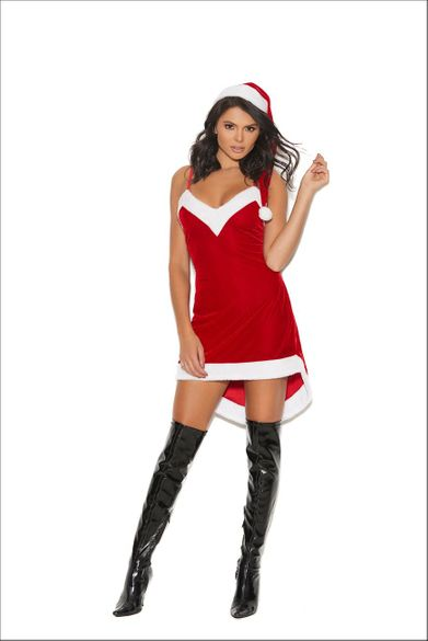 Santa'S Sweetie Two Piece Roll Play Costume
