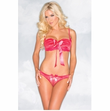Satin And Lace Bra And Panty Set