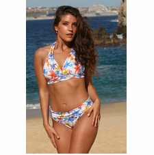 Sea Stars Banded Thong Bikini Swim Suit