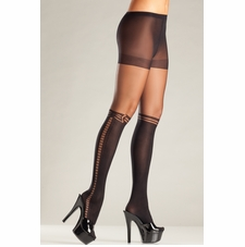 Sheer Pantyhose With Faux Knee High Design