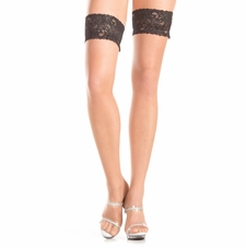 Stay Up Thigh Highs With Black Lace Top