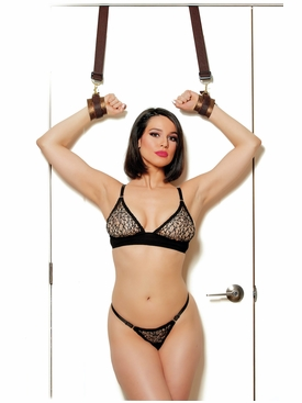 Sweet Surrender Door Jamb Straps With Cuffs