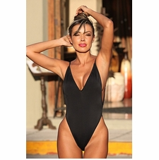 Ujena Black Fabulous Figure Shaper Bathing Suit