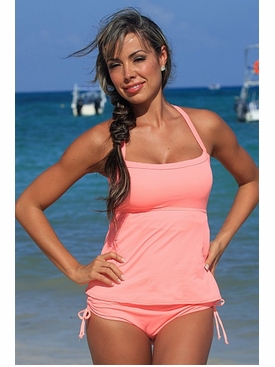 Ujena Coral Full Figure Sexy Tankini Bathing Suit to Size 3X