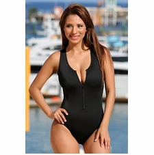 Ujena Designer Zip One Piece Swimsuit