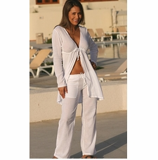 Ujena Drawstring Swimwear Cover-Up Gauze Pants
