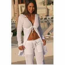 Ujena Gauze Swimwear Cover-Up Tie Robe