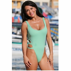 Ujena High Cut Double Strap One Piece Swim Suit