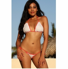 Ujena Islander Crochet String Bikini Bathing Suit
