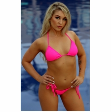 Ujena Itsy Bitsy Hot Pink String Bikini Bathing Suit