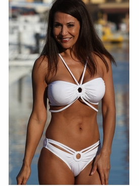 Ujena Monte Carlo White Bikini Bathing Suit