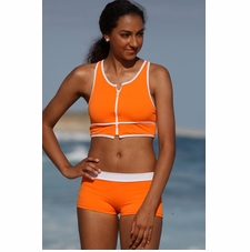 Ujena Outline Sport Zip Bikini Bathing Suit