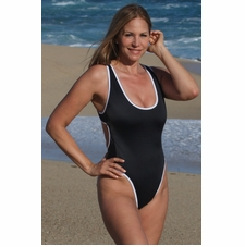 Ujena Outline Winged One Piece Bathing Suit