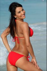 Red Itsy Bitsy String Bathing Suit