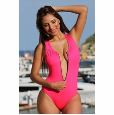Ujena Ritz Zip One Piece Sexy Bathing Suit