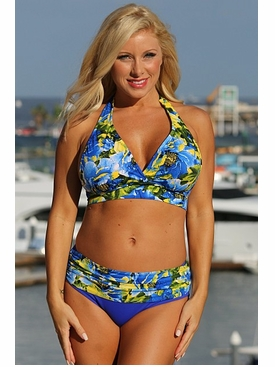 Ujena Royal Islands Minimizer Plus Size Swimsuit to 3X