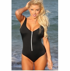 Ujena Sexy Scoop Zip One Piece Sexy Swimsuit