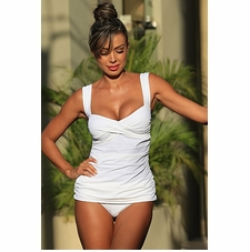 Ujena White Marilyn Sexy Tankini Bathing Suit