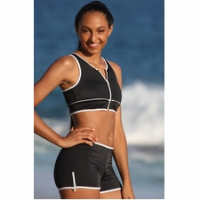 Ujena Zip Outline Sport Bikini Black/White Swimwear