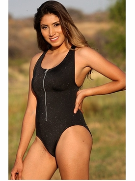 Ujena Zip T One Piece Bathing Suit