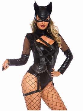 Villainess Vixen Bodysuit With Mask