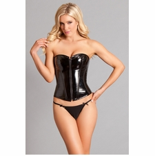 Vinyl Corset With Zippered Front