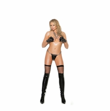 Vinyl G-String With O Ring Detail And Chains