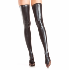 Wet Look Thigh Highs With Back Zipper