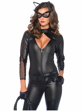 Wicked Kitty 4 Piece Zip Up Catsuit