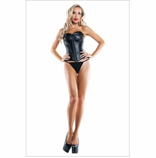 Front Zipper Corset With Grommet Details